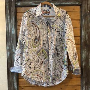Robert Graham embroidered XL shirt